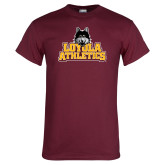 Maroon T Shirt-Athletics