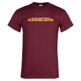 Maroon T Shirt-Loyola University Ramblers Stacked