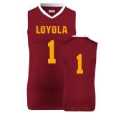 Replica Maroon Adult Basketball Jersey-#1