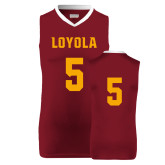 Replica Maroon Adult Basketball Jersey-#5