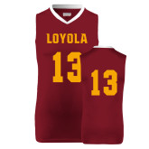 Replica Maroon Adult Basketball Jersey-#13