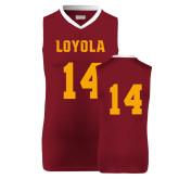 Replica Maroon Adult Basketball Jersey-#14