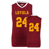 Replica Maroon Adult Basketball Jersey-#24