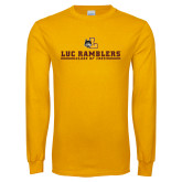 Gold Long Sleeve T Shirt-Class of…Personalized Year, Personalized year
