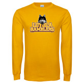 Gold Long Sleeve T Shirt-Loyola Ramblers Stacked