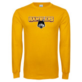 Gold Long Sleeve T Shirt-Ramblers w/ Mascot