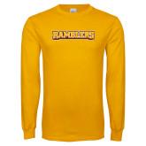 Gold Long Sleeve T Shirt-Ramblers