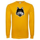 Gold Long Sleeve T Shirt-Mascot