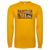 Gold Long Sleeve T Shirt-Rambler Nation
