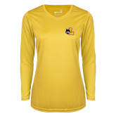 Ladies Syntrel Performance Gold Longsleeve Shirt-L Mark