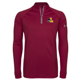 Under Armour Maroon Tech 1/4 Zip Performance Shirt-L Mark