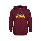 Youth Maroon Fleece Hoodie-Volleyball