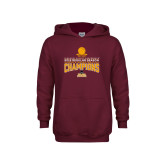 Youth Maroon Fleece Hoodie-2018 Regular Season Mens Basketball