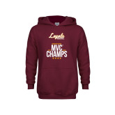 Youth Maroon Fleece Hoodie-2018 MVC Champs Mens Basketball