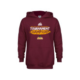 Youth Maroon Fleece Hoodie-2018 Mens Basketball Champions - Brush