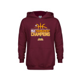 Youth Maroon Fleece Hoodie-2018 Mens Basketball Champions - Stacked