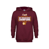 Youth Maroon Fleece Hoodie-2019 Mens Regular Season Champions in Box