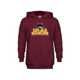 Youth Maroon Fleece Hoodie-Loyola Ramblers Stacked