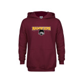 Youth Maroon Fleece Hoodie-Ramblers w/ Mascot