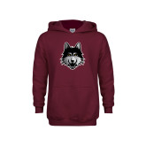 Youth Maroon Fleece Hoodie-Mascot