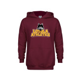 Youth Maroon Fleece Hoodie-Athletics