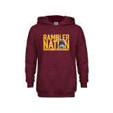 Youth Maroon Fleece Hoodie-Rambler Nation