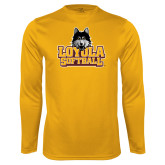 Performance Gold Longsleeve Shirt-Softball