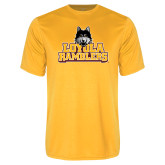Performance Gold Tee-Loyola Ramblers Stacked