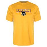 Performance Gold Tee-Ramblers w/ Mascot