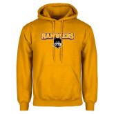 Gold Fleece Hoodie-Ramblers w/ Mascot