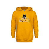 Youth Gold Fleece Hoodie-Loyola Ramblers Stacked