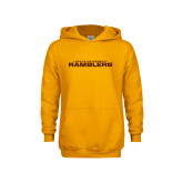 Youth Gold Fleece Hoodie-Loyola University Ramblers Stacked