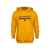 Youth Gold Fleece Hoodie-Loyola University Ramblers - LInes