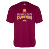 Performance Maroon Tee-2018 Regular Season Mens Basketball