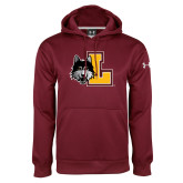 Under Armour Maroon Performance Sweats Team Hoodie-L Mark