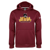 Under Armour Maroon Performance Sweats Team Hoodie-Primary Mark