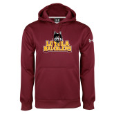 Under Armour Maroon Performance Sweats Team Hoodie-Loyola Ramblers Stacked