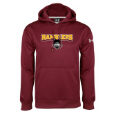 Under Armour Maroon Performance Sweats Team Hoodie-Ramblers w/ Mascot