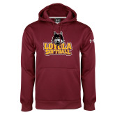 Under Armour Maroon Performance Sweats Team Hoodie-Softball