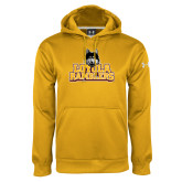 Under Armour Gold Performance Sweats Team Hoodie-Loyola Ramblers Stacked