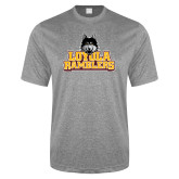 Performance Grey Heather Contender Tee-Loyola Ramblers Stacked
