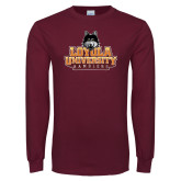 Maroon Long Sleeve T Shirt-Primary Mark - Full Color Gradient