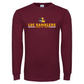 Maroon Long Sleeve T Shirt-Class of…Personalized Year, Personalized year