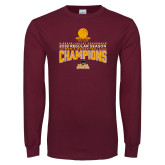 Maroon Long Sleeve T Shirt-2018 Regular Season Mens Basketball