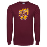 Maroon Long Sleeve T Shirt-Chi Town Hoops