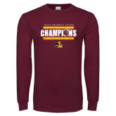 Maroon Long Sleeve T Shirt-2019 Mens Regular Season Champions