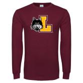 Maroon Long Sleeve T Shirt-L Mark