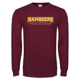 Maroon Long Sleeve T Shirt-Ramblers Loyola University