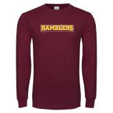 Maroon Long Sleeve T Shirt-Ramblers