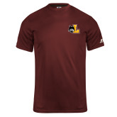 Russell Core Performance Maroon Tee-L Mark